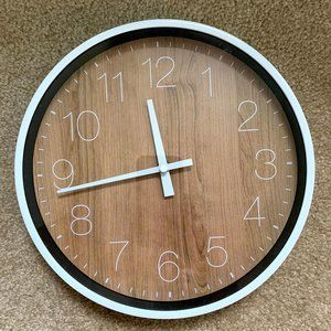 White and Wood Clock